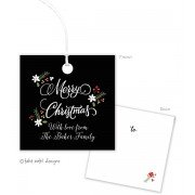 Christmas Gift Tags, White Christmas, Take Note Designs