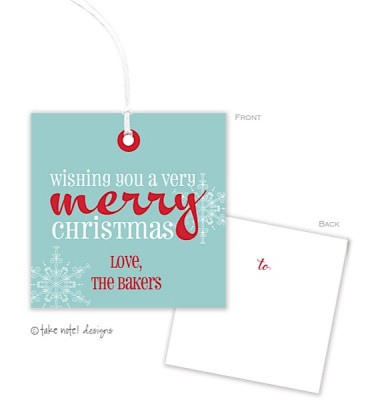 Christmas Gift Tags, Merry, Take Note Designs
