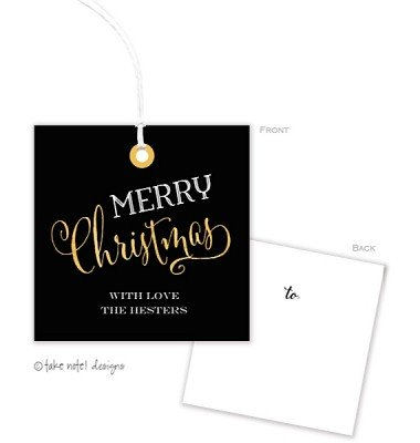 Christmas Gift Tags, Golden Christmas, Take Note Designs