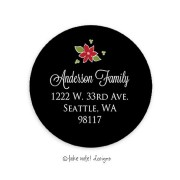 Christmas Return Address Labels, Fleur de Noel, Take Note Designs