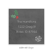 Christmas Return Address Labels, Chalkboard Christmas, Take Note Designs