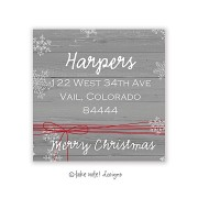 Christmas Return Address Labels, Rustic Red String, Take Note Designs