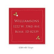 Christmas Return Address Labels, Holly Red, Take Note Designs