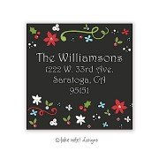 Christmas Return Address Labels, Christmas Flowers, Take Note Designs