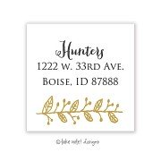 Christmas Return Address Labels, Golden Sprig, Take Note Designs