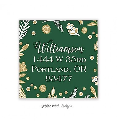 Christmas Return Address Labels, Enchanted Christmas, Take Note Designs