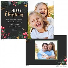 Christmas Digital Photo Cards, Lovely Christmas Greens, Take Note Designs