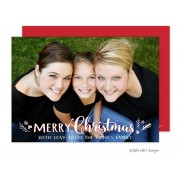 Christmas Digital Photo Cards, Christmas Sprig Overlay, Take Note Designs