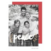 Christmas Digital Photo Cards, Peace Vines Overlay, Take Note Designs