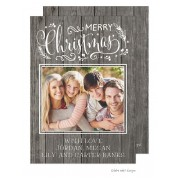 Christmas Digital Photo Cards, Enchanted Rustic Christmas, Take Note Designs