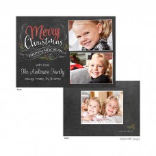 Christmas Digital Photo Cards, Chalk Script Christmas, Take Note Designs