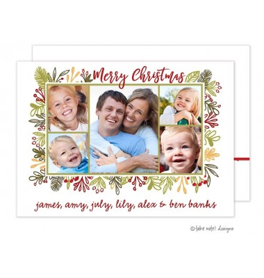 Christmas Digital Photo Cards, Vines Frame, Take Note Designs