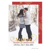 Christmas Digital Photo Cards, Rejoice Snowflake, Take Note Designs