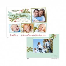 Christmas Digital Photo Cards, Christmas Eve Sprig Banner, Take Note Designs