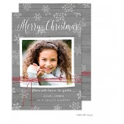 Christmas Digital Photo Cards, Rustic Red String, Take Note Designs