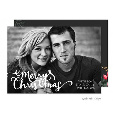 Christmas Digital Photo Cards, Christmas Casual Script Overlay, Take Note Designs
