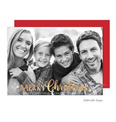 Christmas Digital Photo Cards, Christmas Sprig Holiday, Take Note Designs