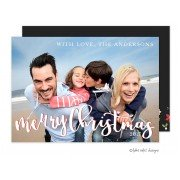 Christmas Digital Photo Cards, Free Script Overlay, Take Note Designs