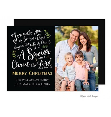 Christmas Digital Photo Cards, Luke 2:11 Christmas, Take Note Designs