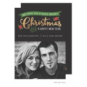 Christmas Digital Photo Cards, Golden Banner, Take Note Designs