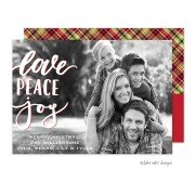Christmas Digital Photo Cards, Love Peace Joy, Take Note Designs