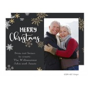 Christmas Digital Photo Cards, Golden Snowflakes Christmas Joy, Take Note Designs