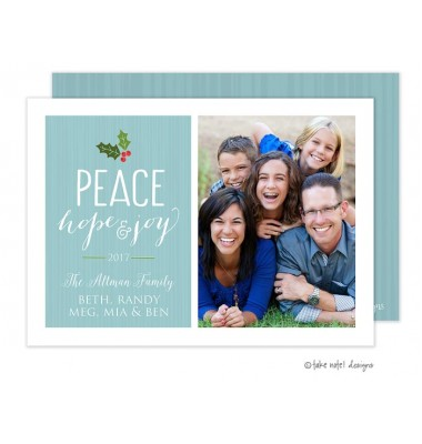 Christmas Digital Photo Cards, Peace Hope & Joy, Take Note Designs