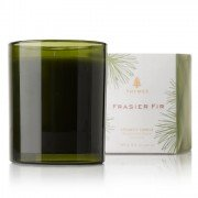 Thymes Frasier Fir Green Glass Candle