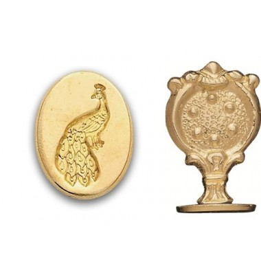 Wax Seal Stamp, Peacock