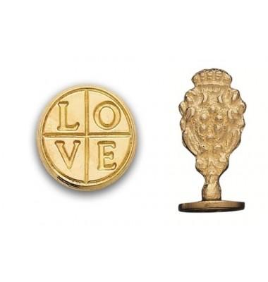 Wax Seal Stamp, Love Cross