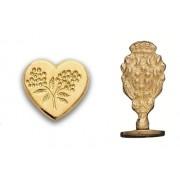 Wax Seal Stamp, Heart Shape Flower