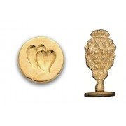 Wax Seal Stamp, Twin Hearts