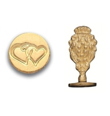 Wax Seal Stamp, Double Hearts