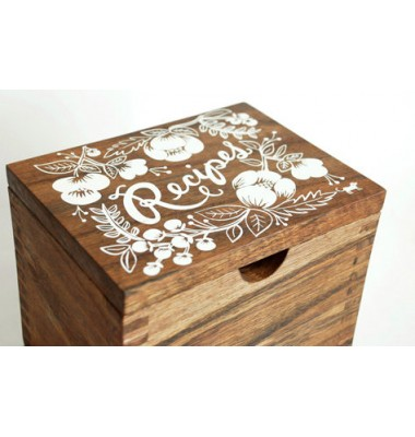 Heirloom Recipe Box by Rifle, Floral