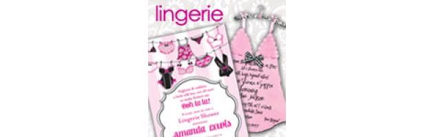Lingerie Shower Invitations