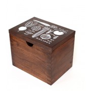 Heirloom Hardwood Recipe Box by Rifle, Garden
