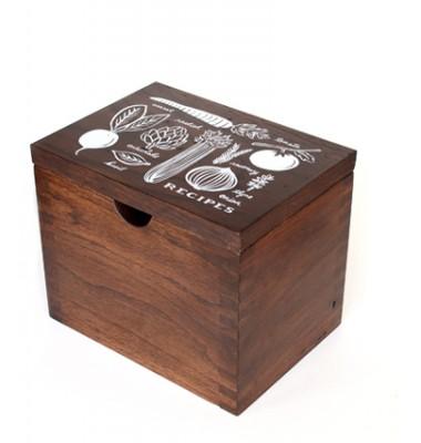 Heirloom Hardwood Recipe Box by Rifle, Garden