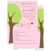 Baby Shower Invitations, Little Girl Clothes Line, take note! designs