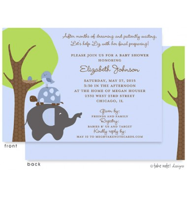 Baby Shower Invitations, Patiently Waiting Boy, take note! designs