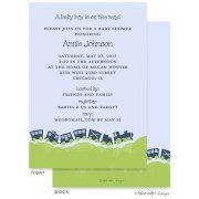 Baby Shower Invitations, Train, take note! designs
