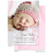 Birth Announcements, Grace Parker, take note! designs