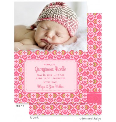 Birth Announcements, Georgianne Noelle, take note! designs