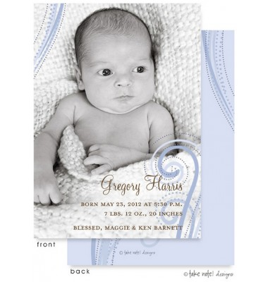 Birth Announcements, Gregory Harris, take note! designs