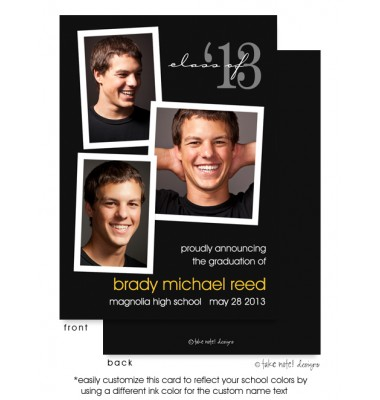 Graduation Photo Invitations, Photo Fun Layout Black, take note! designs