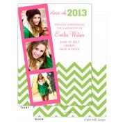 Graduation Photo Invitations, Preppy Chevron, take note! designs