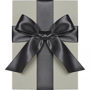 Double Face Satin Ribbon, Black, Waste Not Paper