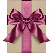 Double Face Satin Ribbon, Fig, Waste Not Paper