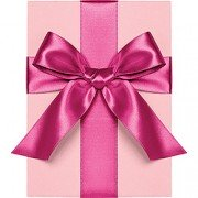 Double Face Satin Ribbon, Fuschia, Waste Not Paper