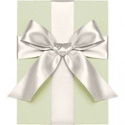 Double Face Satin Ribbon, Ivory, Waste Not Paper