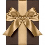 Double Face Satin Ribbon, Gold, Waste Not Paper